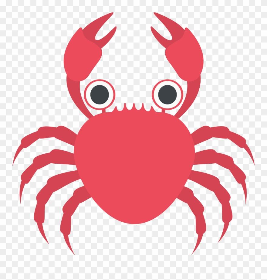 Cartoon Crab 15, Buy Clip Art - Crab Emoji - Png Download