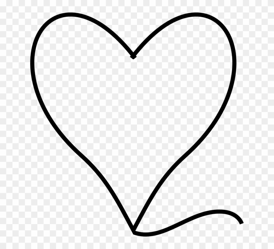 Black And White Heart Clipart 20 Buy Clip Art Kreslene Srdce Png