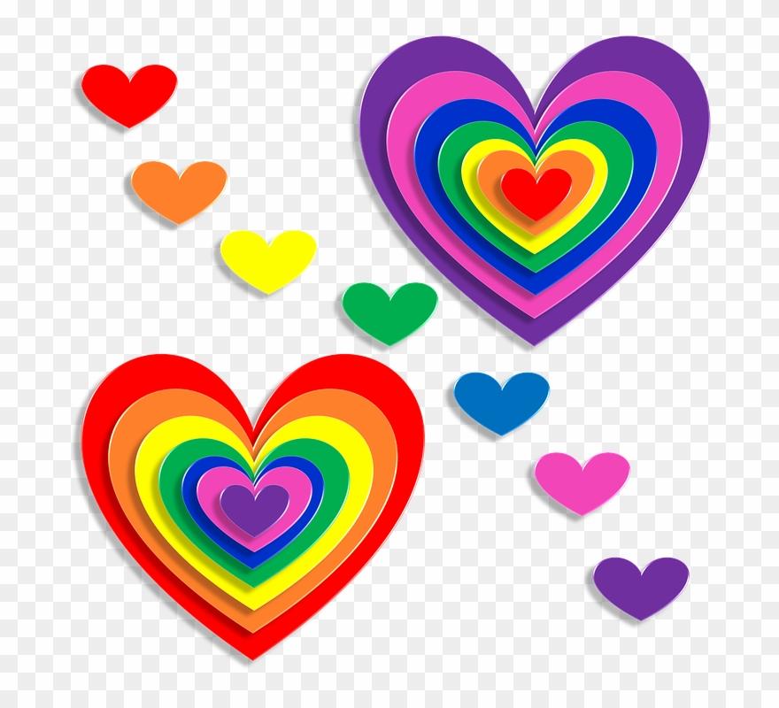 Corazones De Colores Brillantes Clipart 1338210 Pinclipart