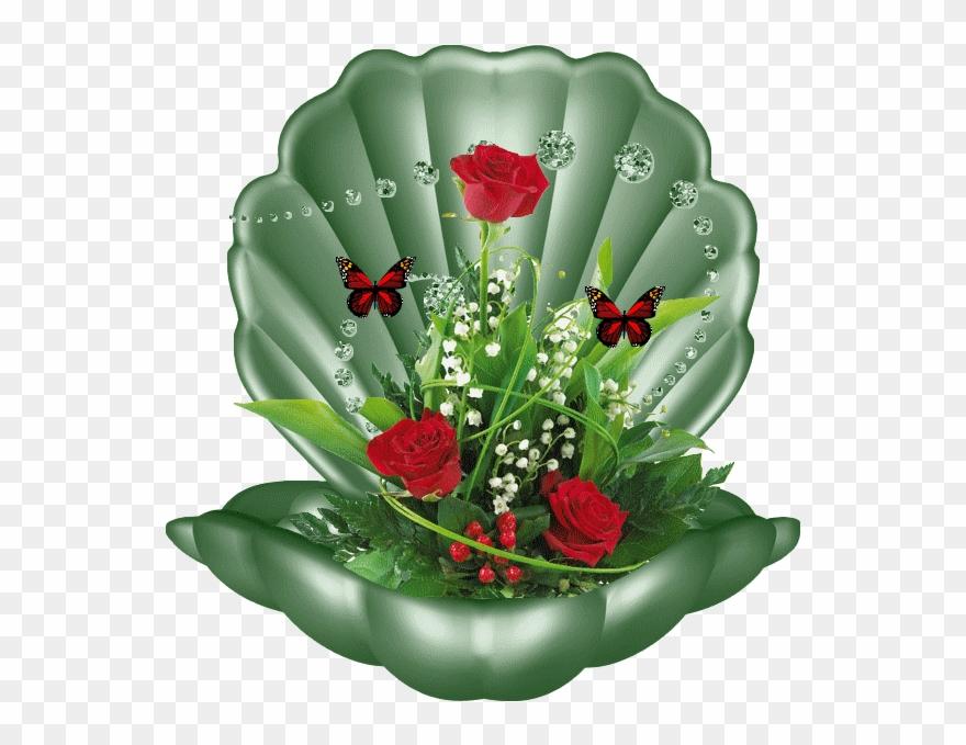 Com Femmes Papillon Fleur Gifs Porte Bonheur Image Muguet Clipart