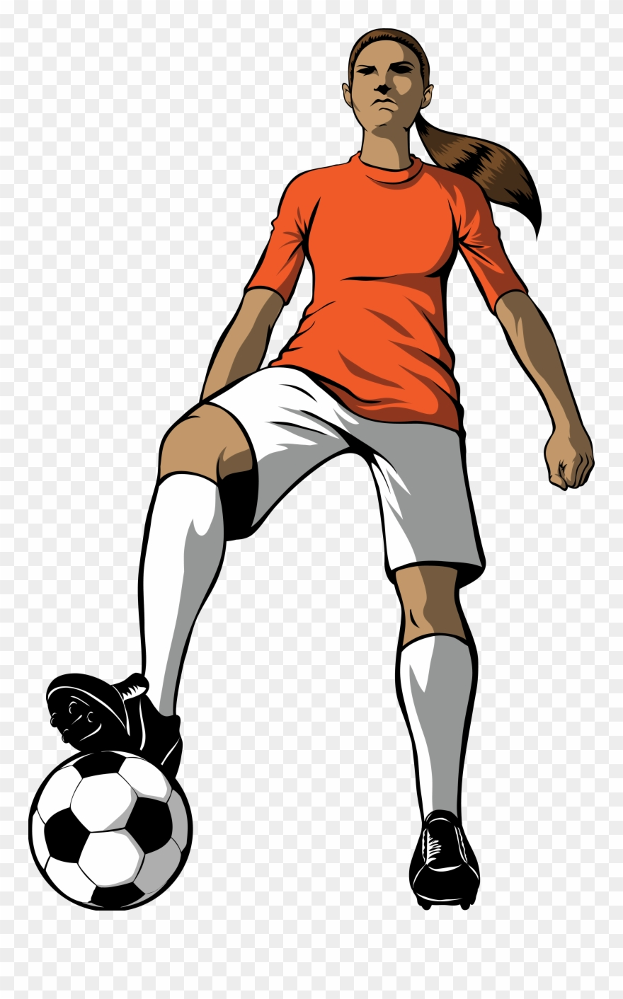 Image result for girls soccer clipart