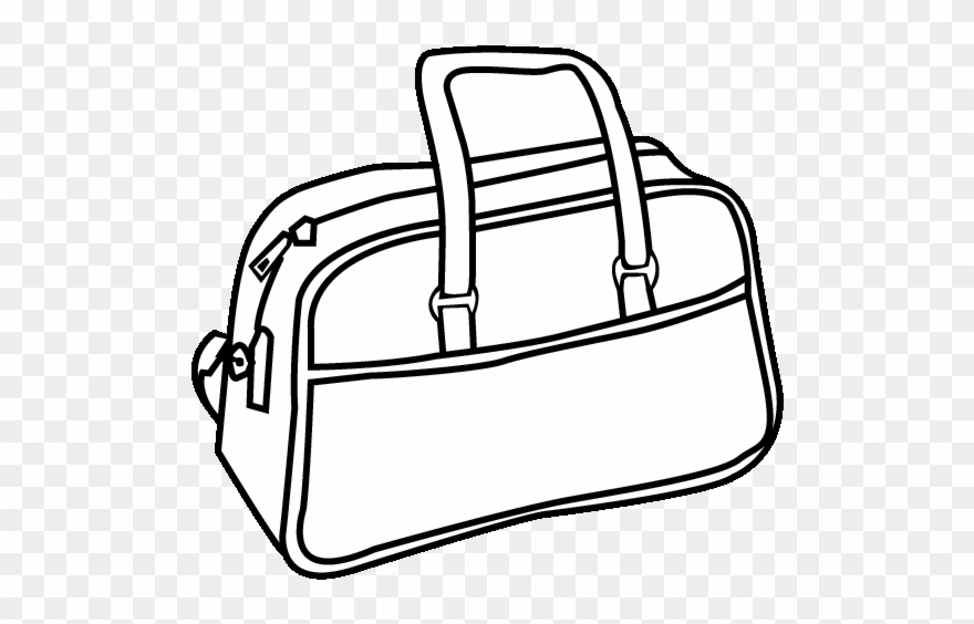 Purse 0113 Printable Coloring In Pages For Kids Colouring Page Of Bag Clipart 1347049 Pinclipart