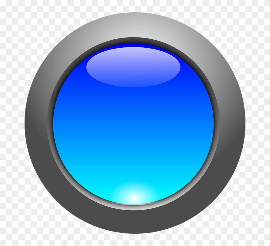 3d Circle Button Png Clipart