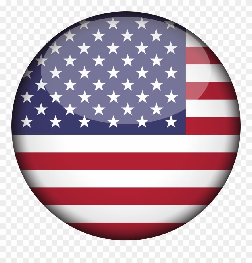 American flag circle. Clip art united states