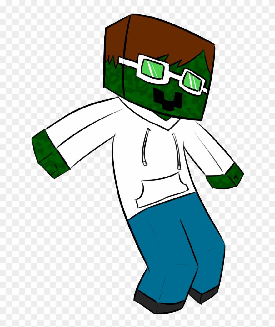 Cool Zombie Mascot - Skin Minecraft Cartoon Png Clipart (#12