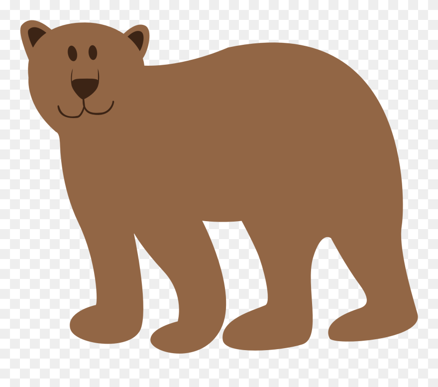 Bear transparent background. Colorful animal geometry clipart