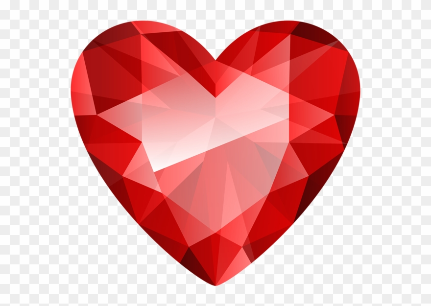 Download Red Diamond Heart Png Clipart Clip Art Diamond