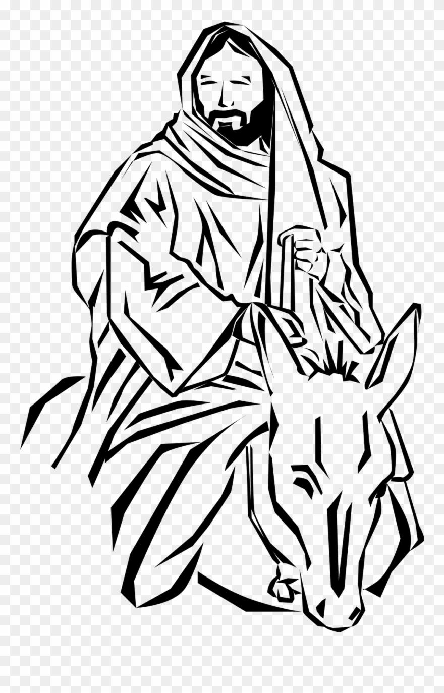 Kostenlose Clipart Bilder Palmsonntag Ränder Und Jesus Palm
