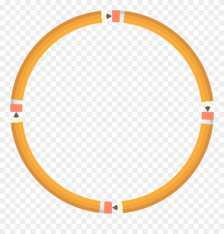 Teacher Pencil Cliparts 1, Buy Clip Art - Orange Circle Outline Png Transparent Png