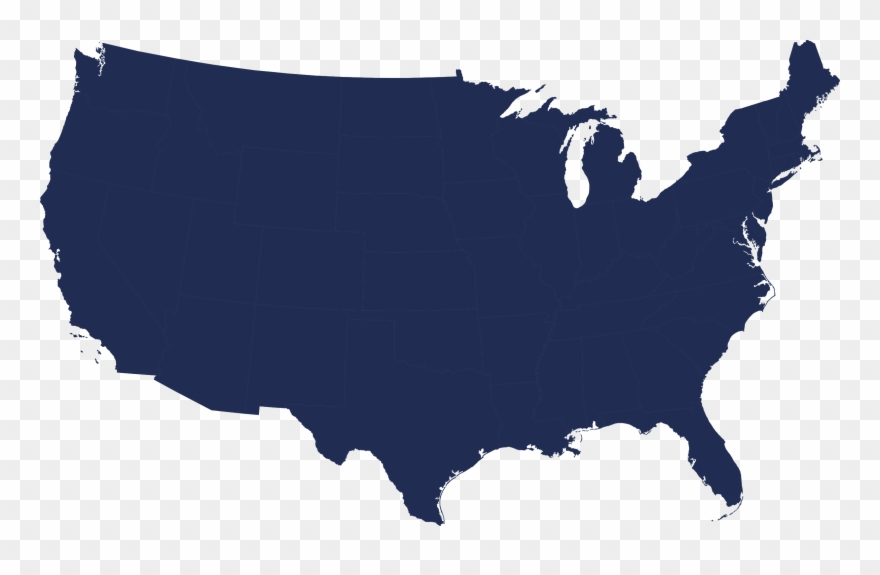 Maps Of Us Blue Map Detailed Map Maps Of Us Blue Usa Map - Us-map-transparent-background