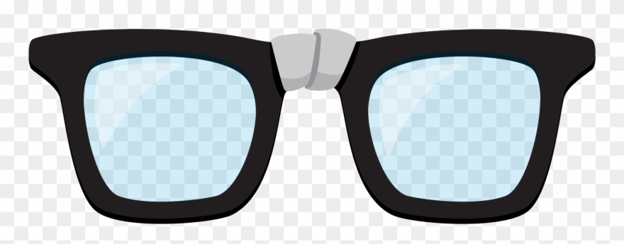 Glasses broken. Clip art real and
