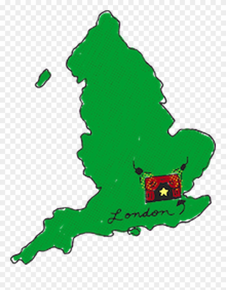 Map Of England Clipart 1398211 Pinclipart