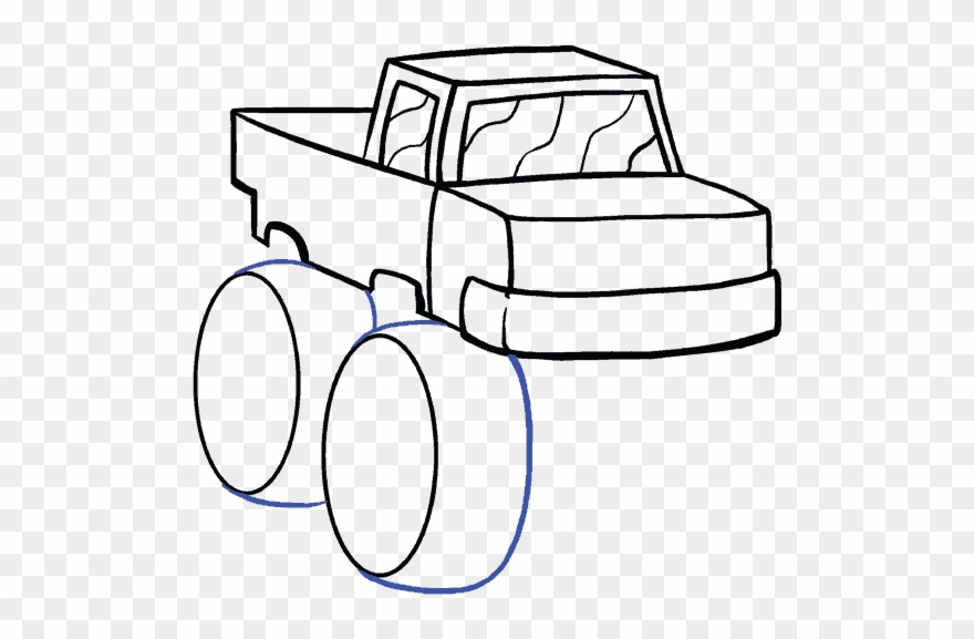 Drawn Bus Simple Easy Drawings Of Monster Trucks Clipart 1398232