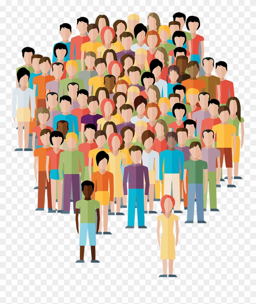 Crowd Clipart Transparent Person - Population Stock - Png ...