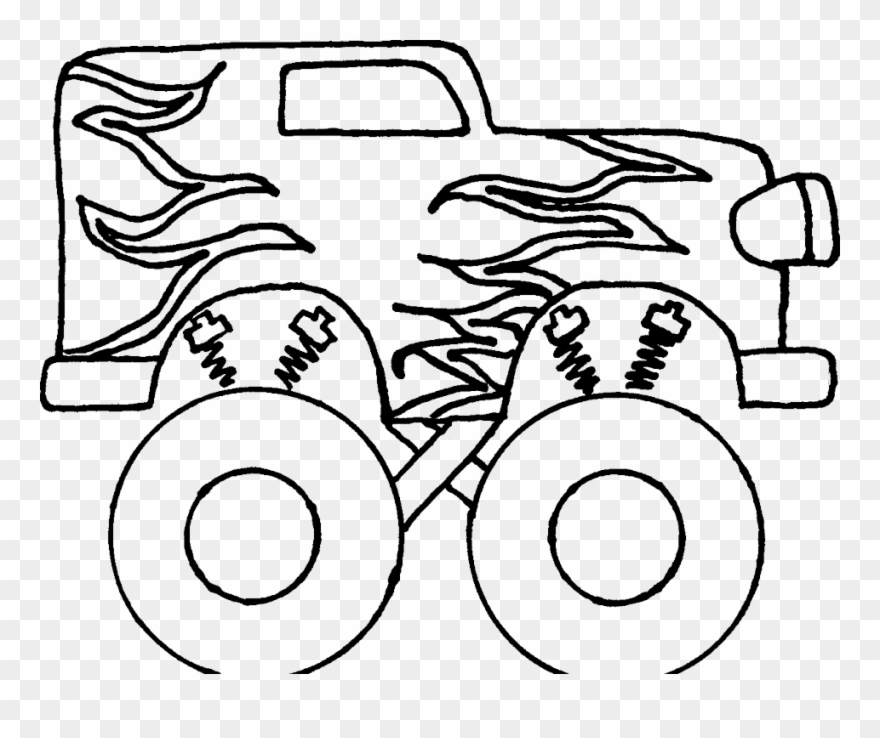 Monster Truck Coloring Sheet Many Interesting Cliparts