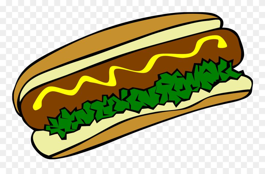 Onlinelabels Clip Art - Burger And Hot Dog - Png Download