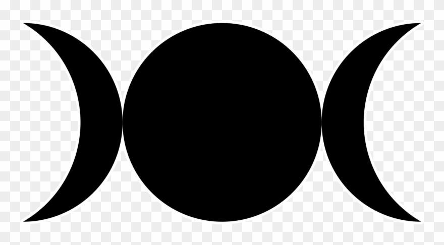 File Triple Goddess Symbol - Triple Moon Clipart (#146143
