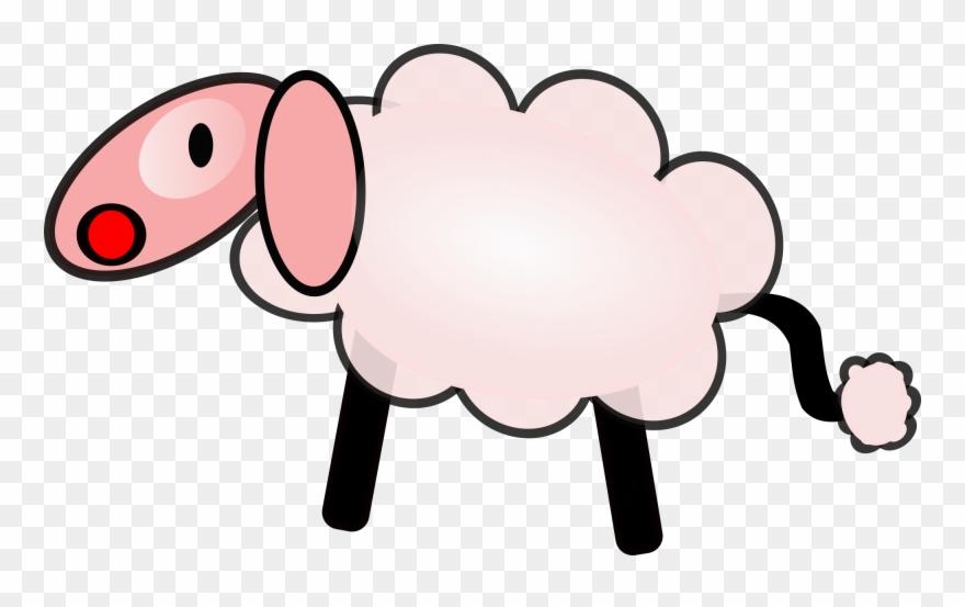Lamb Clipart Line Art Domba Karikatur Png Download 146843