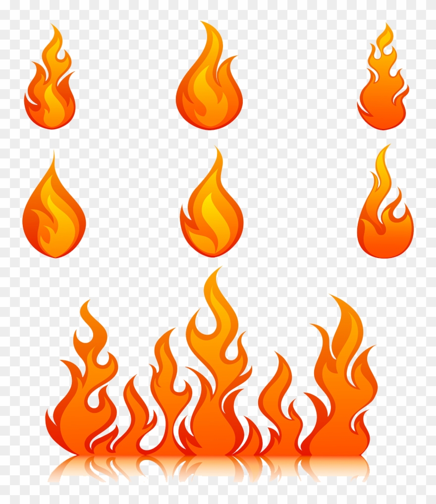 Clipart Flames Royalty Free Fire Free Vector Png Download