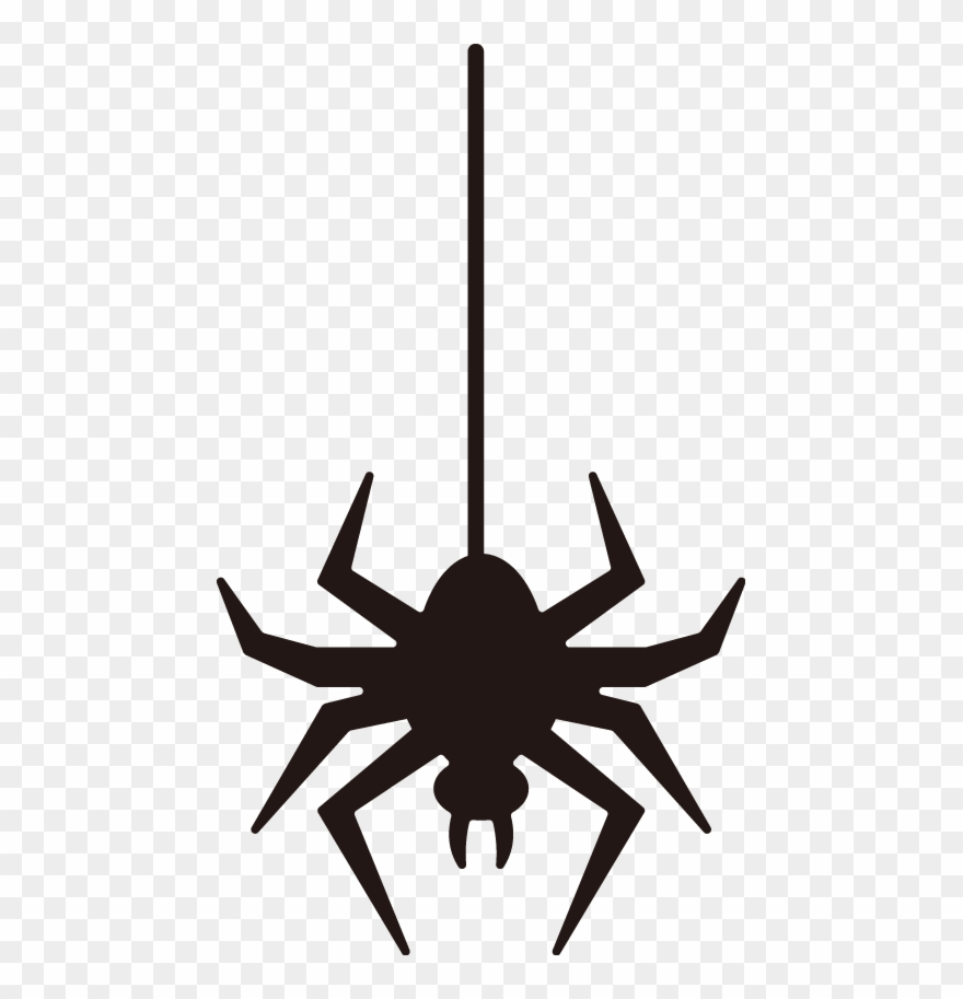 Halloween Vector Black And White.Free Online Spider Insect Horrible Halloween Vector Illustration