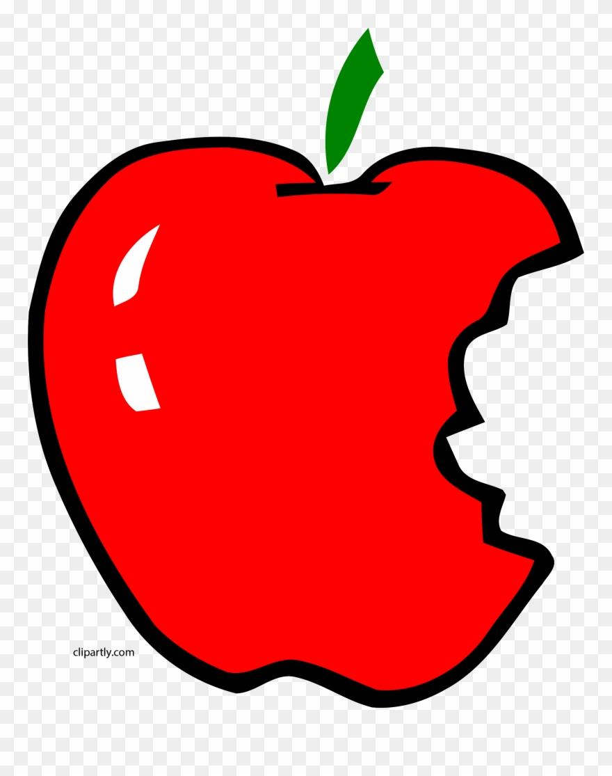 Apple bitten. Apl bite clipart png