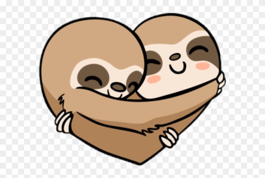 Sloth Heart Clipart