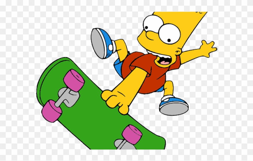 Bart Simpson Clipart Transparent Background Bart Simpson Skate Png 1411954 Pinclipart