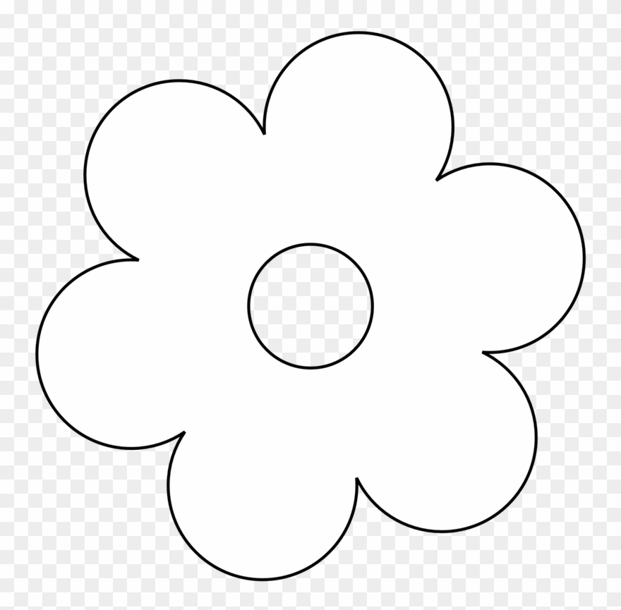 Flower black and white. Clip art flowers clipart