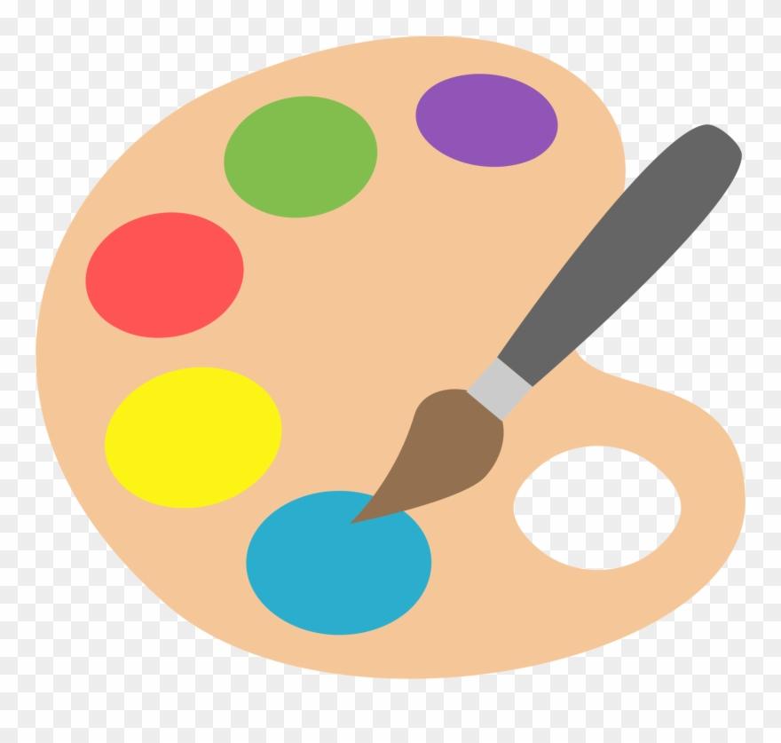 Art painting. Clipart paint palette emoji