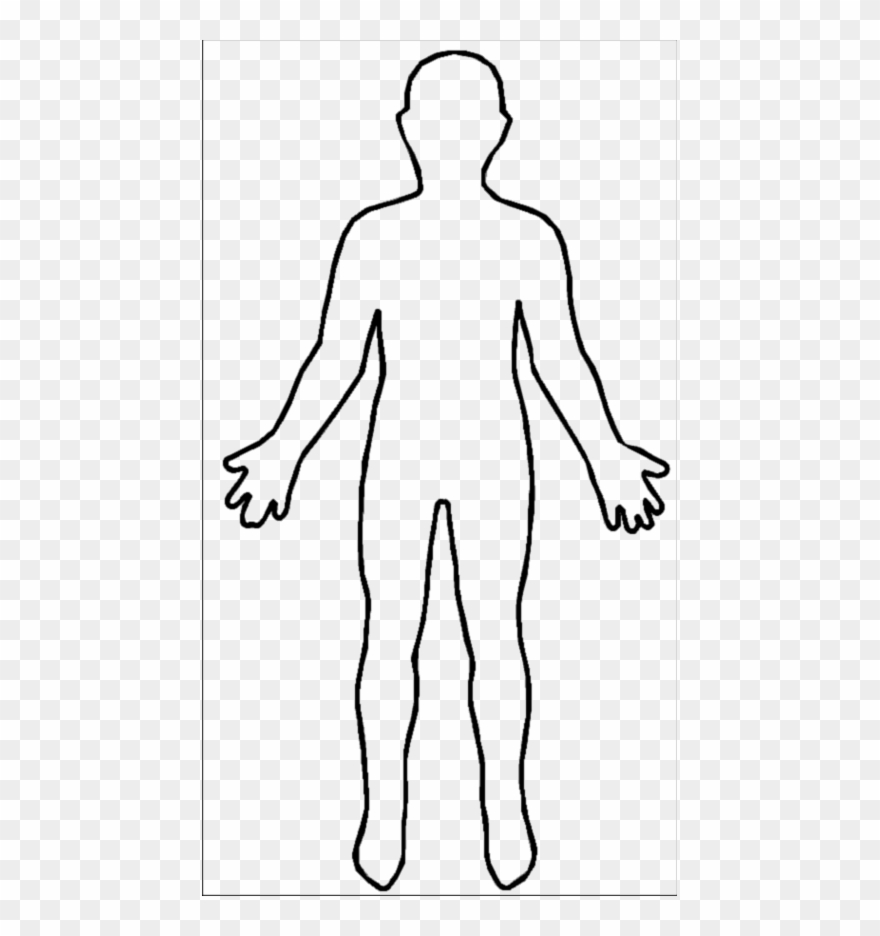 Body human. Outline clipart pinclipart