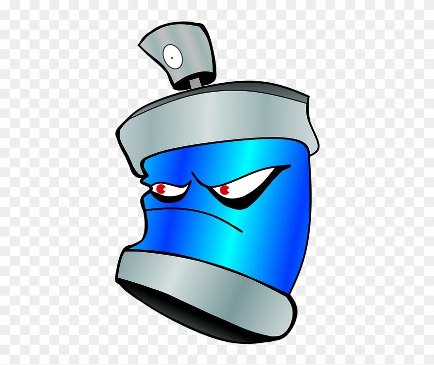 Cartoon Spray Paint Can 2, Buy Clip Art