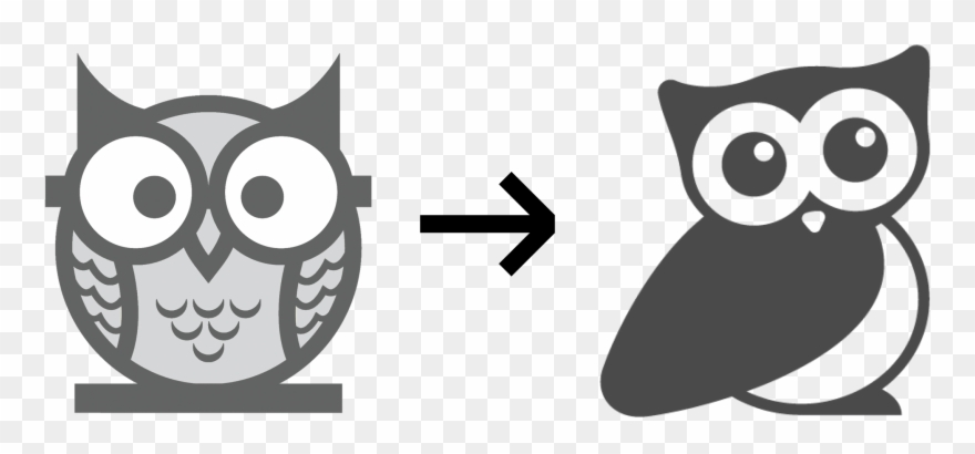 As A Favicon Or In White On Colored Backgrounds Which Owl Black