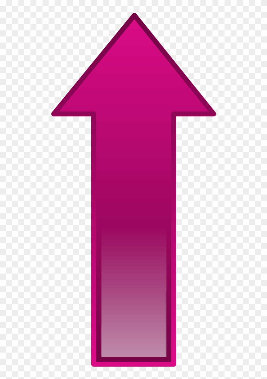 Arrow pink. Pointing up gif clipart