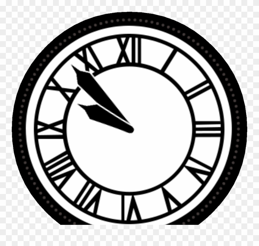 Back To The Future Clock Tower Black Clipart 1427918