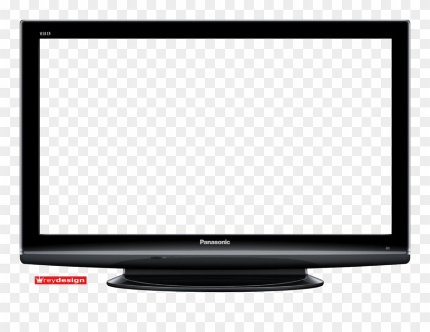 Tv flat screen. Vector television plasma transparent