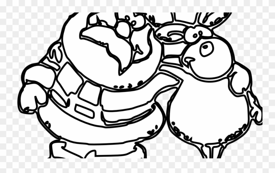Christmas Kangaroo Coloring Page With Cookie Clip Art
