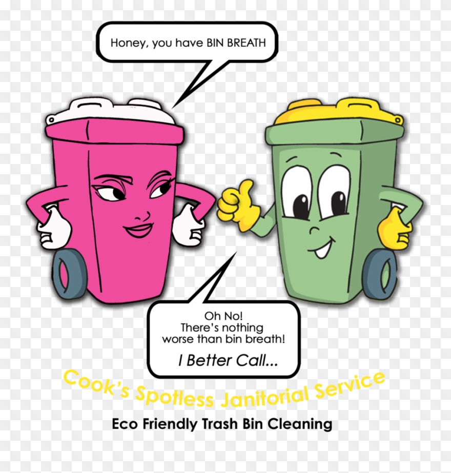 Does Your Trash Bin Have Bin Breath Cartoon Garbage Can Clipart