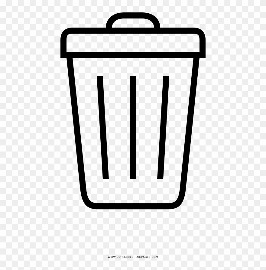 Clip Art: Basic Words: Garbage (coloring page) I abcteach.com ... | 891x880