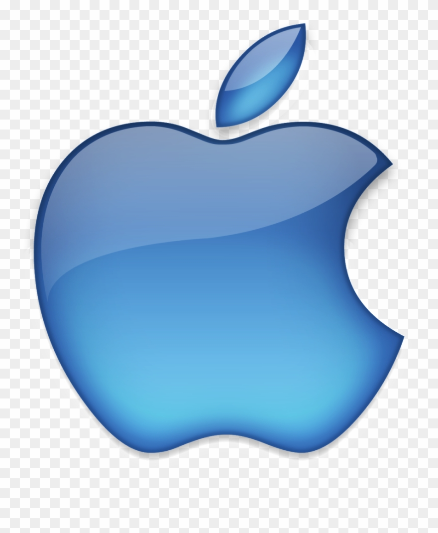 Clipart White Background Apple Logo Blue Png Download