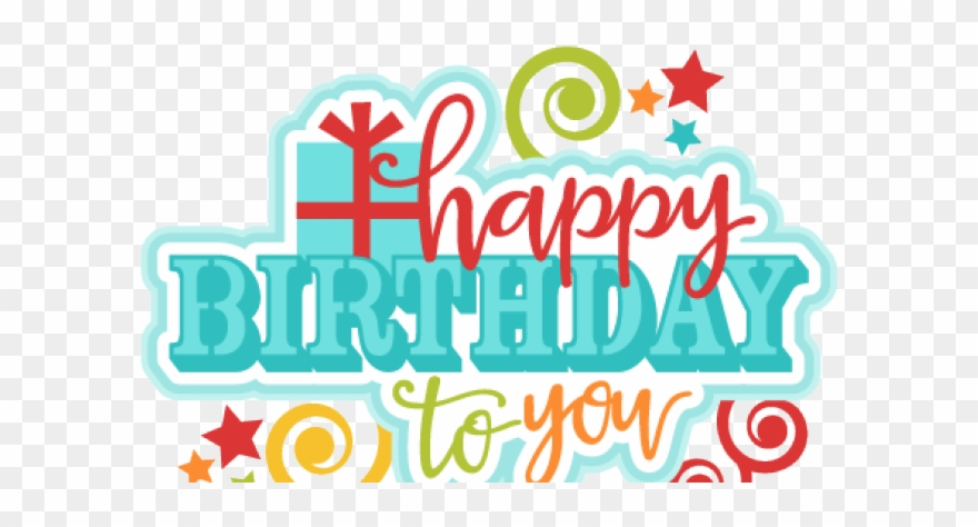 Birthday transparent background. Happy clipart text