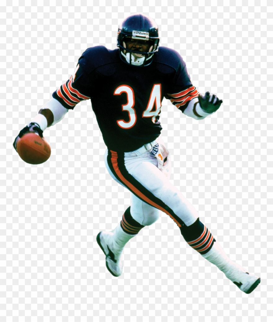 Chicago bears white background. Player walter payton clipart
