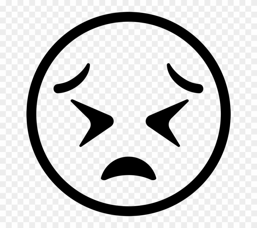 Tired Face Emoji Rubber Stamp