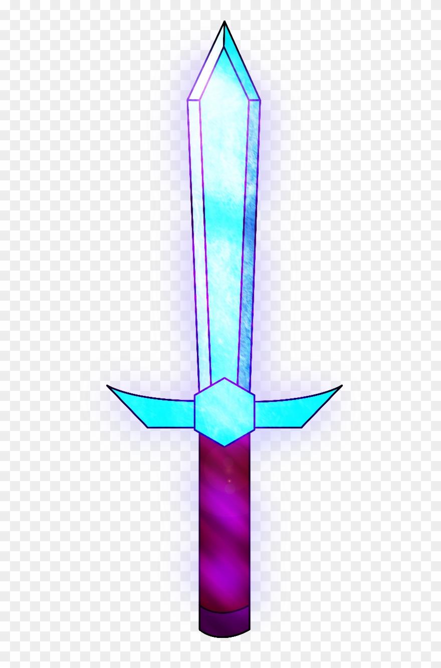 Minecraft Enchanted Diamond Sword Clipart (#1453598) - PinClipart