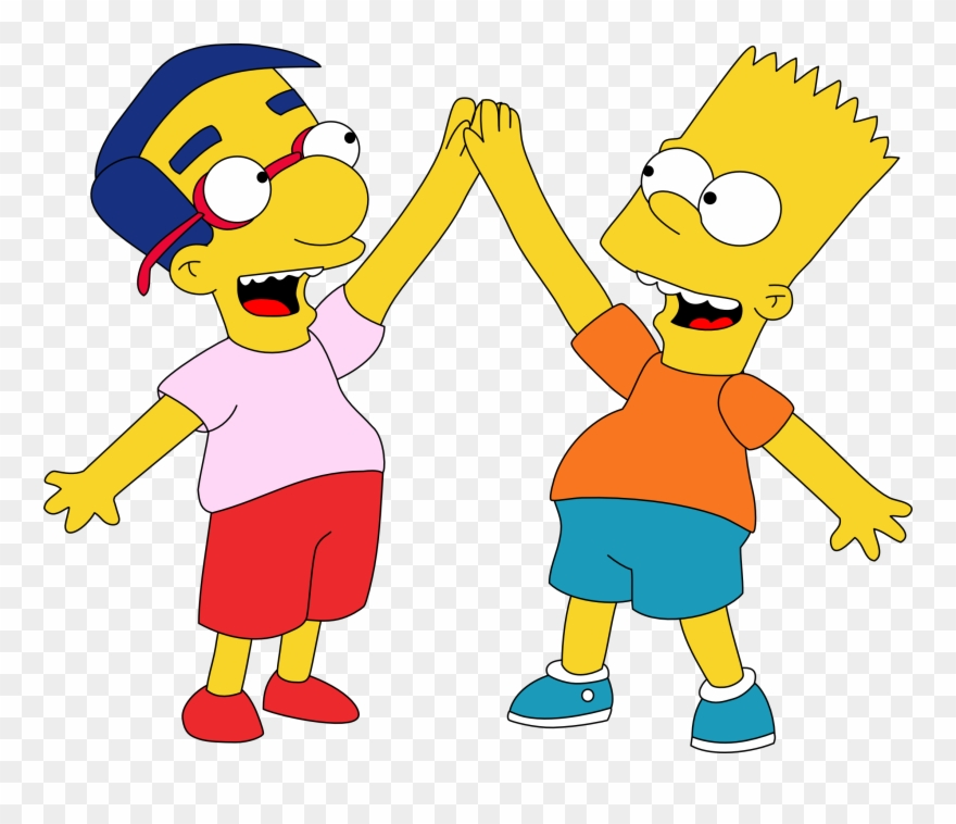 Best Friends Cartoon Images Bart Simpson And Milhouse Clipart