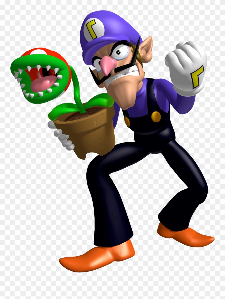 Waluigi high resolution. That piranha plant is