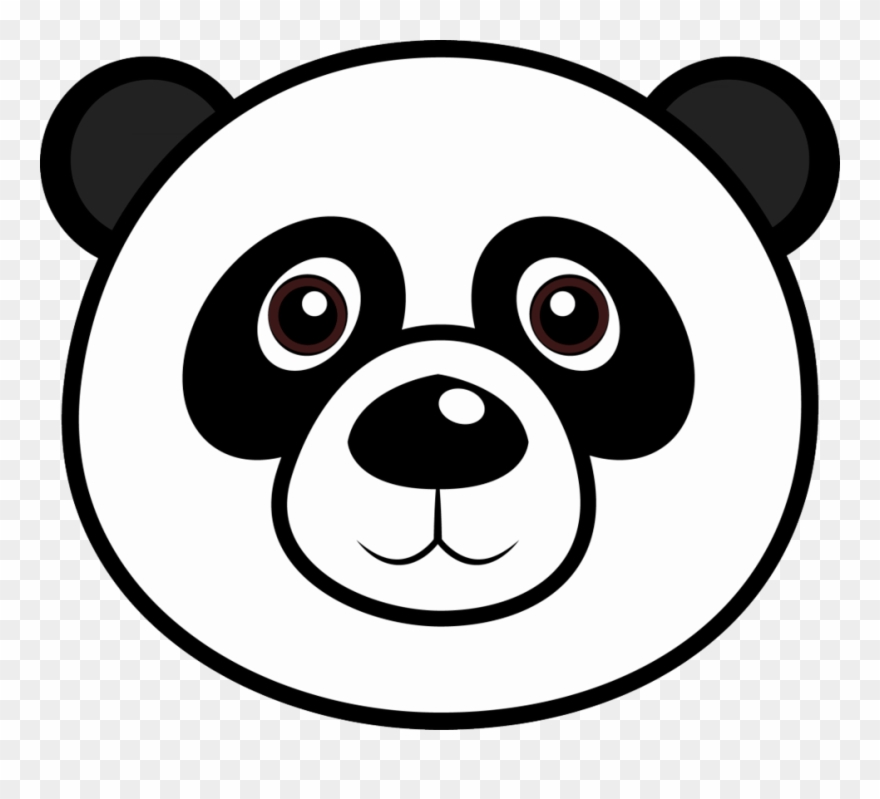 Panda Bear Face Coloring Page Clipart