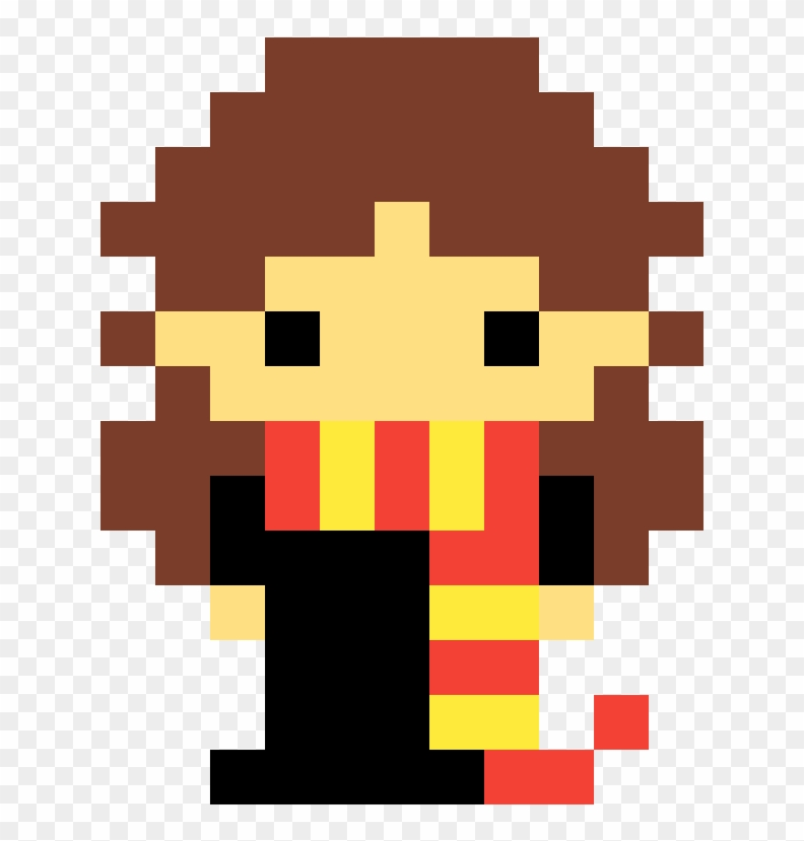 Hermione Granger - Goomba Minecraft Pixel Art Clipart