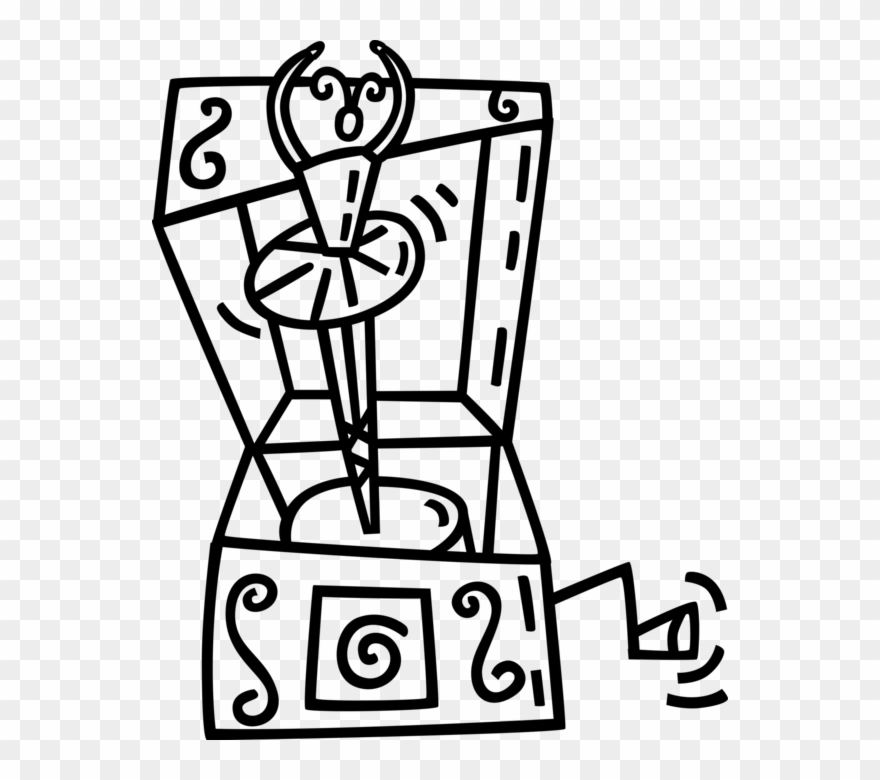 Vector Illustration Of Music Box With Dancing Ballet