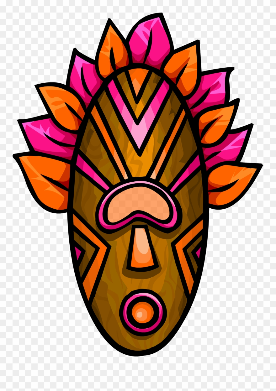 picture regarding Tiki Mask Printable named Tiki Mask Png - Purple Tiki Mask Clipart (#1478471) - PinClipart