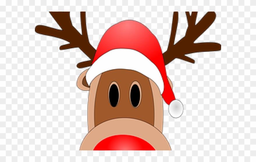 Reine Du Pere Noel Mask Clipart Reindeer   Renne Du Pere Noel   Png Download